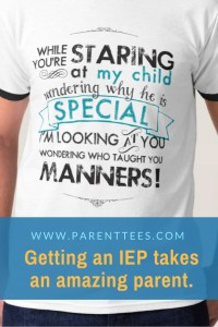 While You're Staring at My Child t-shirt
