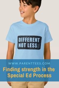 Different, Not Less. Temple Grandin special needs t-shirt