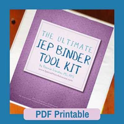 The Ultimate IEP Binder Toolkit Printable | IEP Organizer