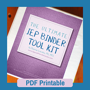 IEP Organizer: The Ultimate IEP Binder Tool Kit