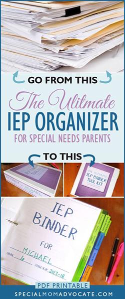 IEP Binder Tool Kit for Parents, IEP Organizer