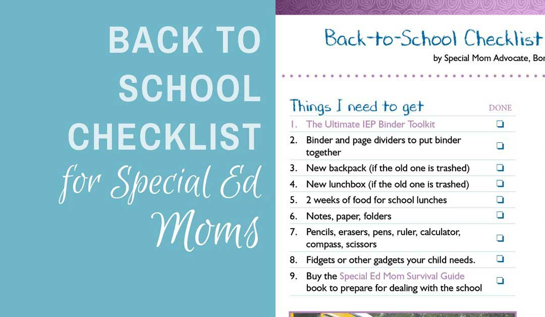 Back to School Checklist for Special Ed Parents