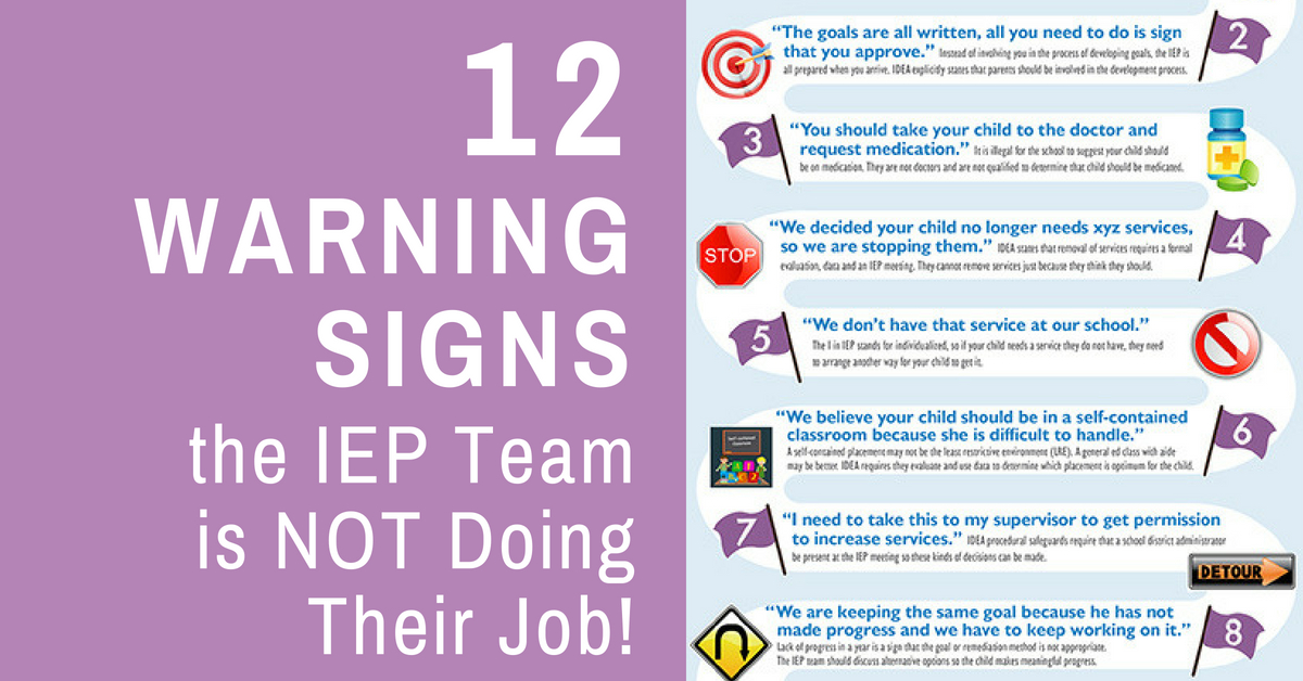 10 Key Procedural Safeguards In Idea >> 12 Warning Signs The Iep Team Is Not Doing Their Job By Making Excuses