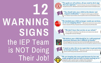 12 Warning Signs the IEP Team is NOT Doing Their Job!