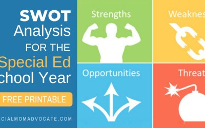 SWOT Analysis for the Special Ed School Year