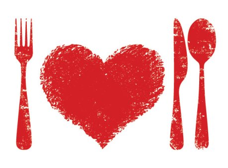 Heart Health picture with silverware