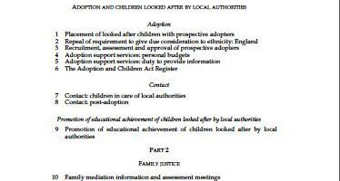 Children and Families Bill – initial views