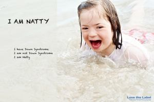 Natty is one of the faces of the lose the label campaign