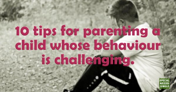 Title Image: 10 tips for parenting behaviour challenging.