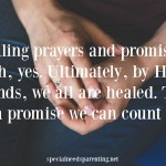 Healing Prayers and Promises in Disability Parenting