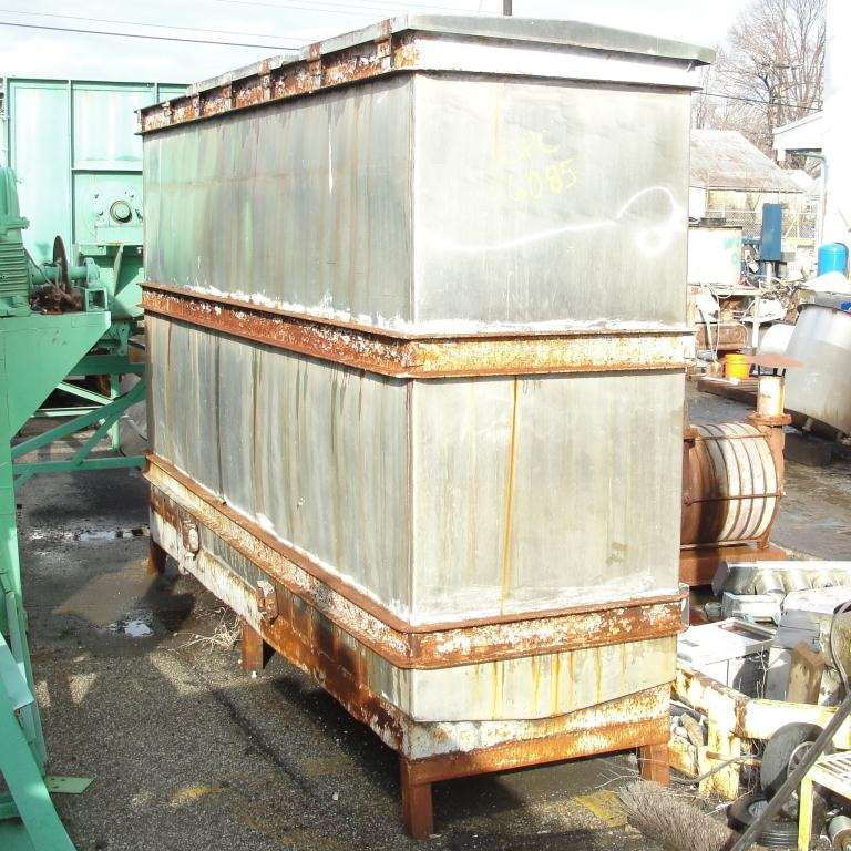 1000 gallon rectangular stainless steel tank