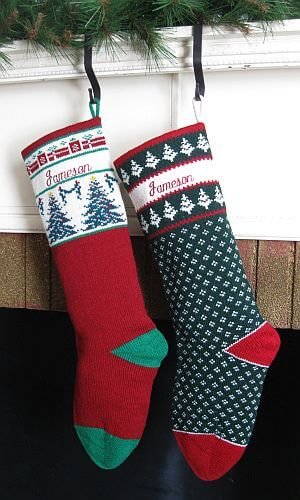 Wool knit Christmas Stockings