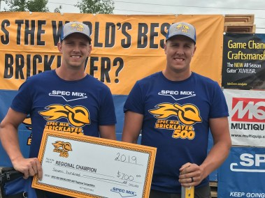 2019 SPEC MIX BRICKLAYER 500 Alberta Regional Winners Douglas Veldman and Daniel Veldman