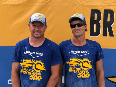 2019 SPEC MIX BRICKLAYER 500 East Tennessee Regional Series Winners Brian Wade and Brian Mullins