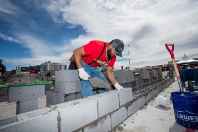 MCAA's Fastest Trowel 2021 in Las Vegas before the SPECMIX BRICKLAYER 500