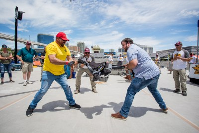 Blaklader Pants Pull competition at the SPECMIX BRICKLAYER 500