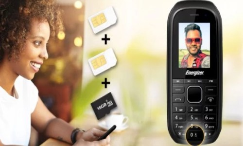 Energizer E12; A €12 dual-SIM phone with a MicroSD Slot and Media Buttons