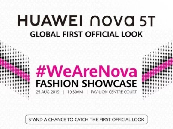 Huawei nova 5T will be Officially Announced on August 25, 2019