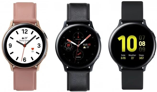 Images of the Samsung Galaxy Watch Active 2