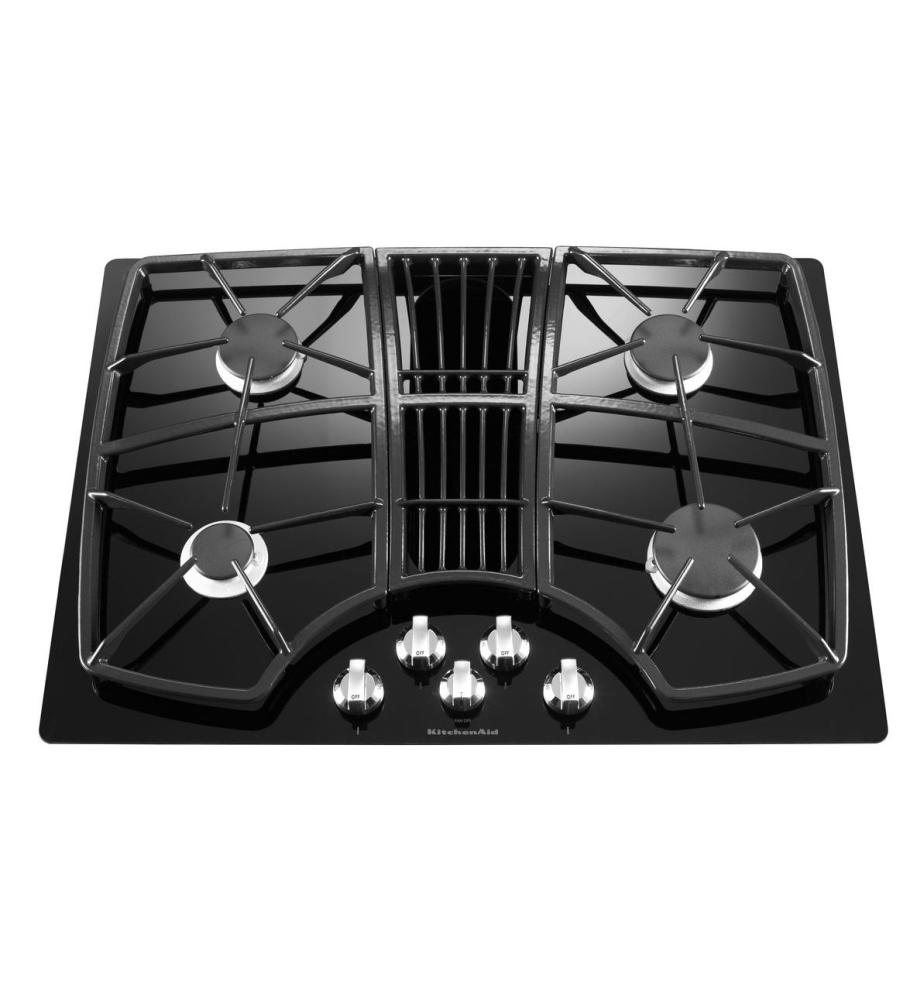 KGCD807XBL Kitchenaid 30 Inch 4 Burner Downdraft Gas