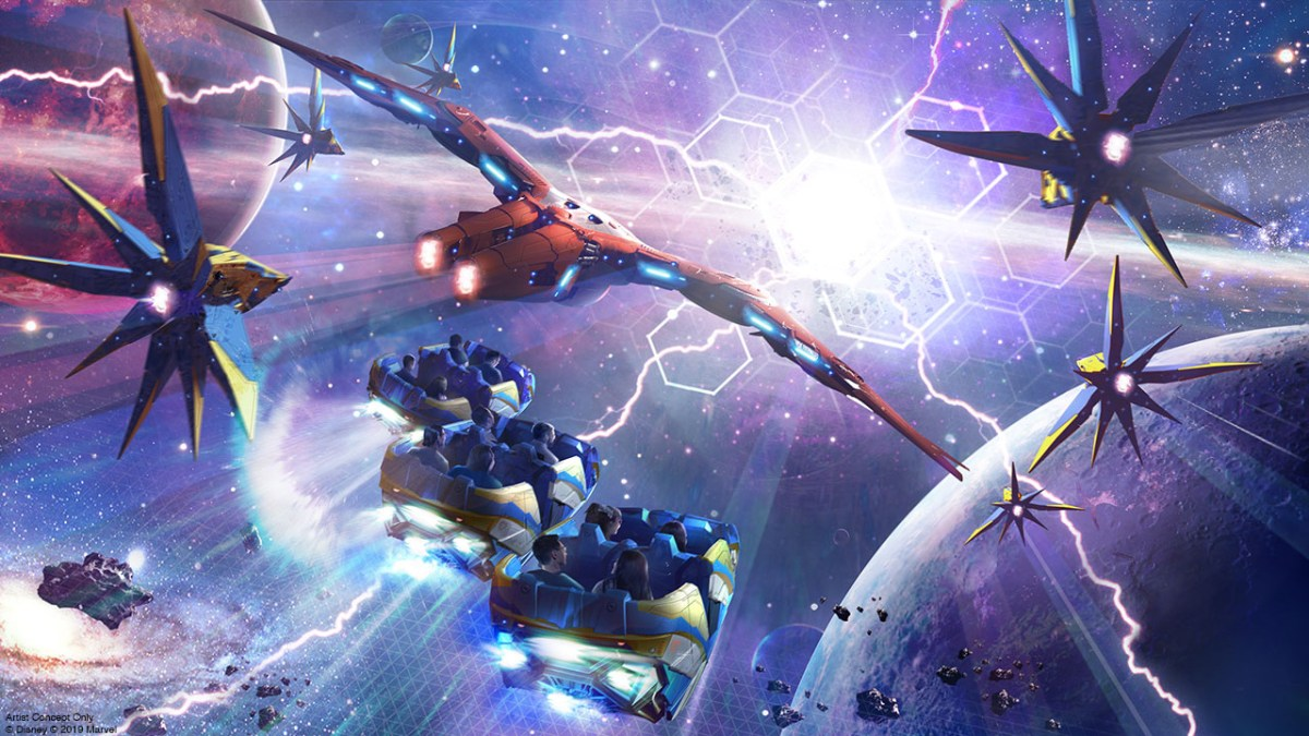 Cosmic Rewind Concept Art from the Disney Parks Blog