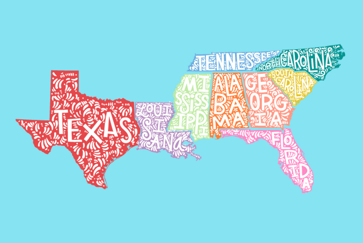 An illustration of the south.