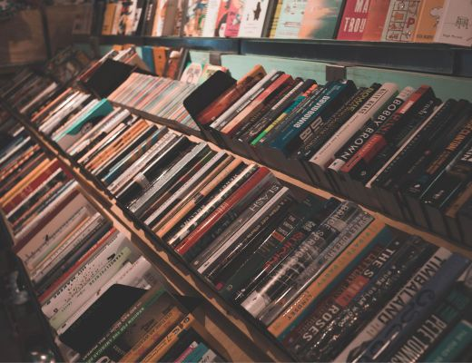 A photo of LGBTQ bookstores.