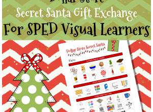BLOG: Dollar store secret santa gift exchange for special education students visual learners
