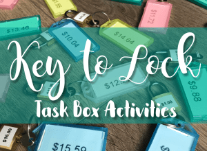 Key to Lock Task Box Activities for Special Education Independent Work