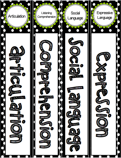 Editable Speech and Language Binder Labels