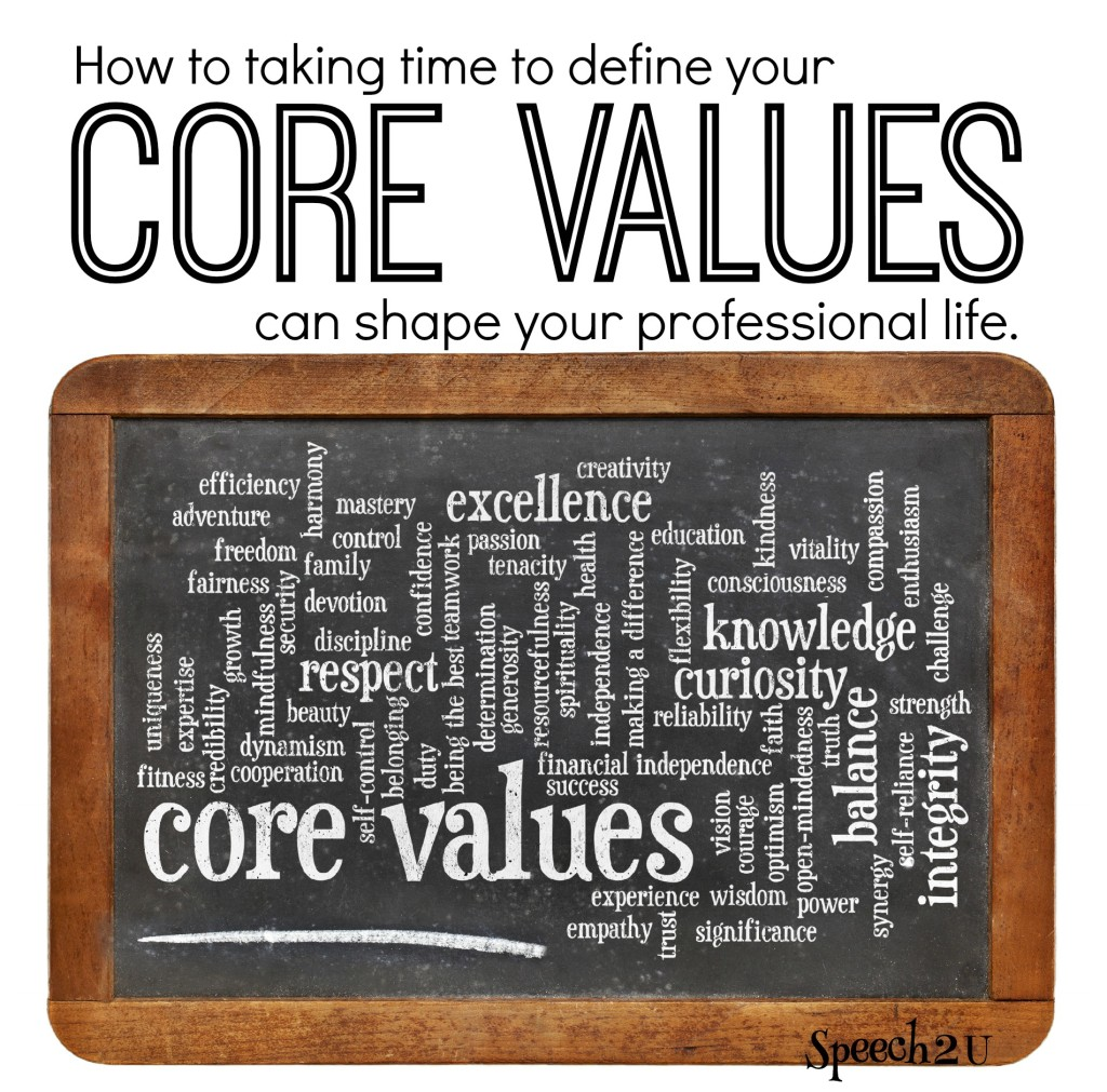 How Thinking About Your Personal Core Values Can Help You