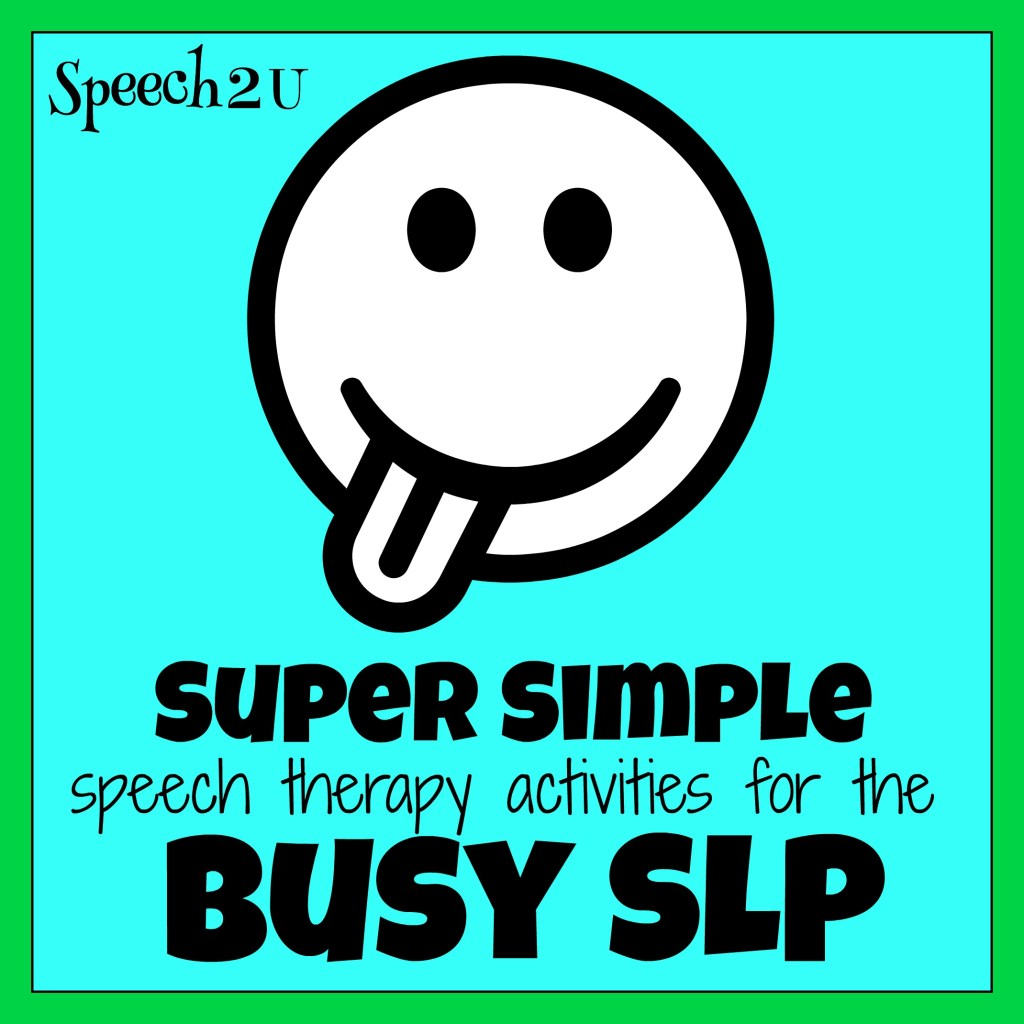 Quick and Easy Speech Therapy Activities: Table top drawings