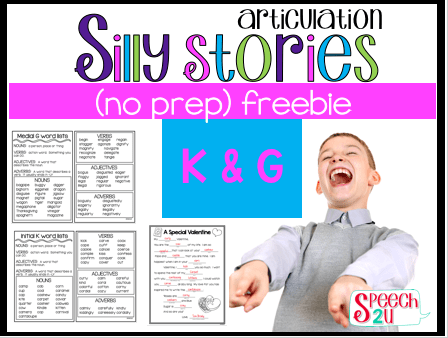 Valentine Speech Therapy Activities {{Freebies}}
