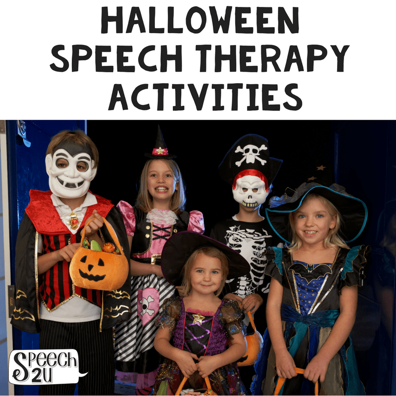 Halloween Speech Therapy Activities