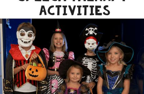 Halloween Speech Therapy Activities