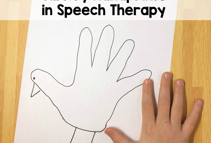 Thanksgiving Speech therapy Craft: Hand Turkeys
