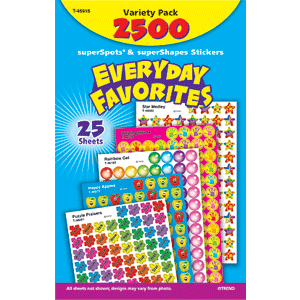Everyday Favorites - Mini Stickers For Dot Books (2,500)-0
