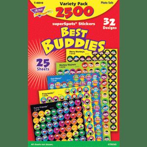 Best Buddies - Mini Stickers For Dot Books (2,500)-0