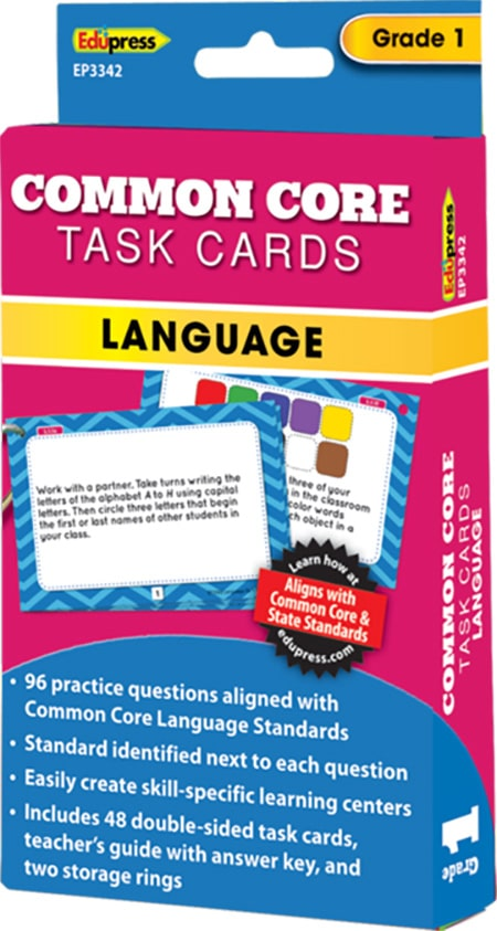 Common Core Language Task Cards: Grade 1-6355