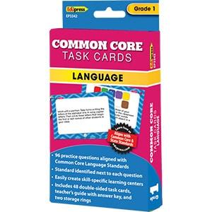 Common Core Language Task Cards: Grade 1-0