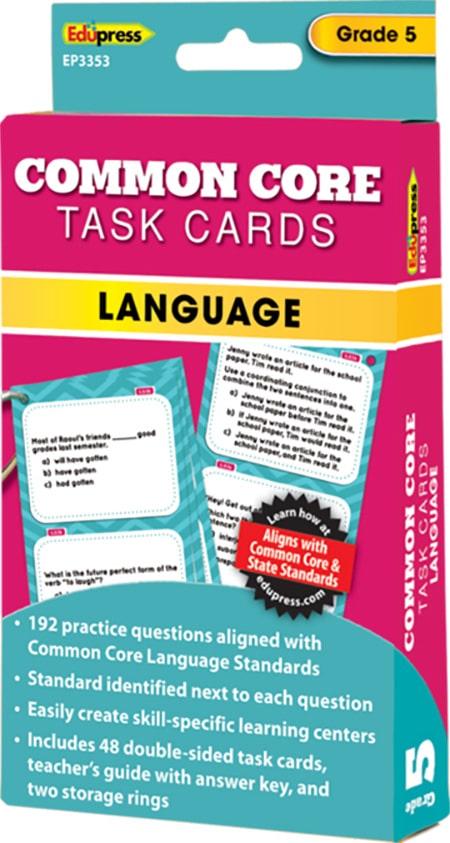 Common Core Language Task Cards: Grade 5-4288