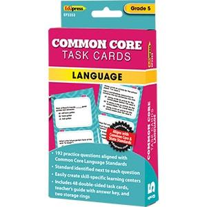 Common Core Language Task Cards: Grade 5-0