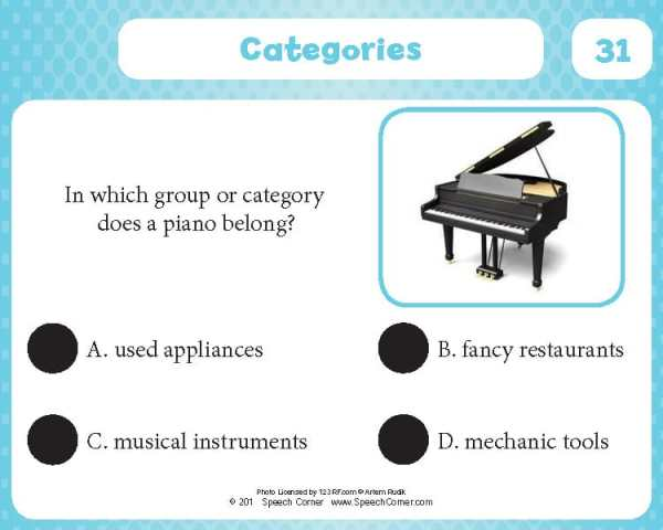 Spot On! Categories-4329