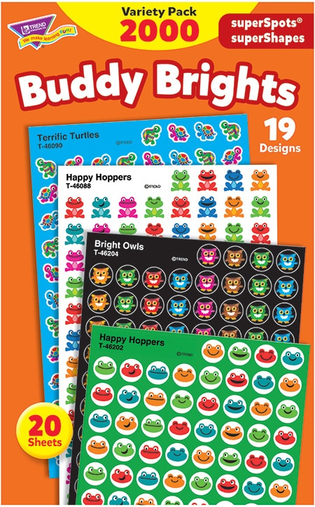 Buddy Brights - Mini Stickers For Dot Books or Incentive Charts (2,000)-4672