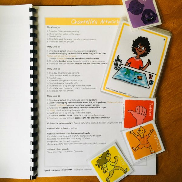 Narrative book and cards