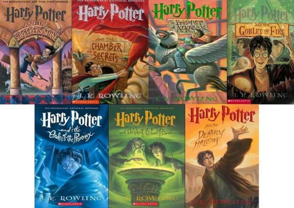 Image result for Harry Potter books.
