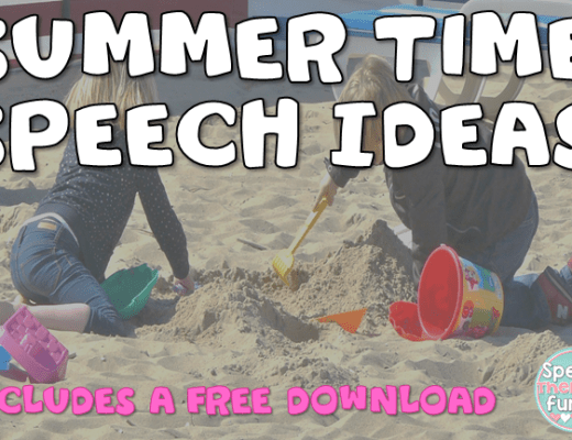 Speech Therapy Fun: Summer Ideas