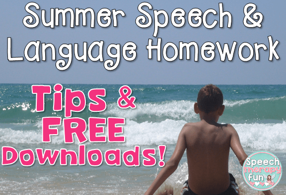 Speech Therapy Fun: Summer Speech Homework