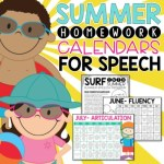Speech Therapy Fun: Recommended Summer Homework
