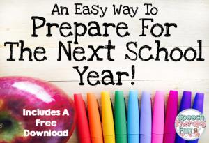 Prepare for The Next School Year